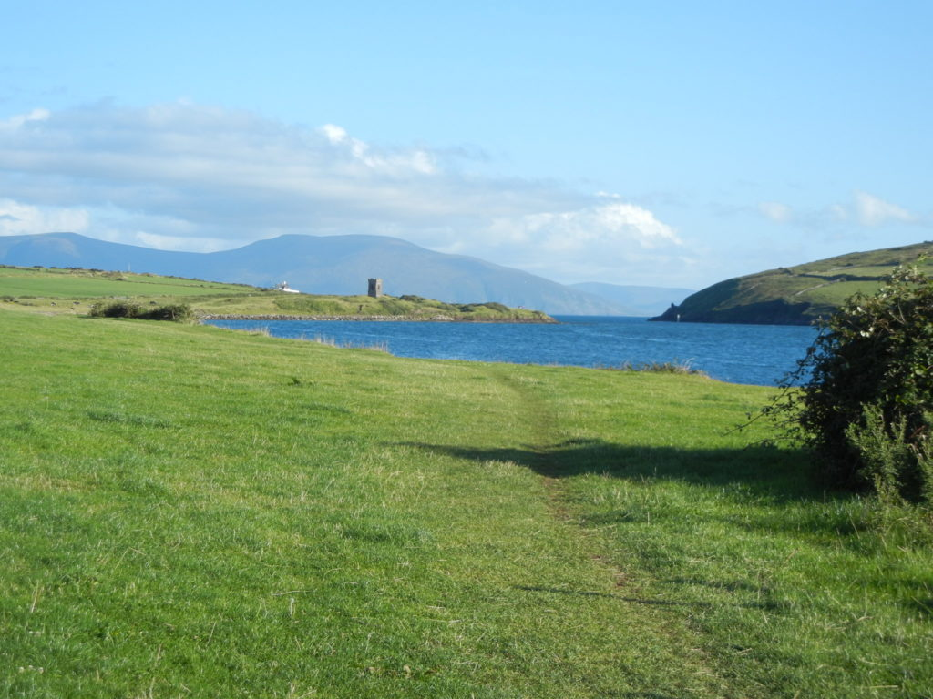 View of entrance to Dingle Bay from footpath